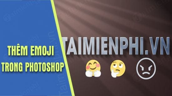 By inserting an emoji message into you in photoshop