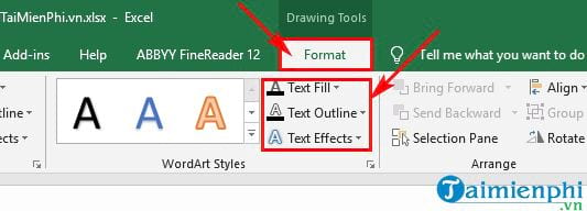 Guide to inserting word art in Excel 11