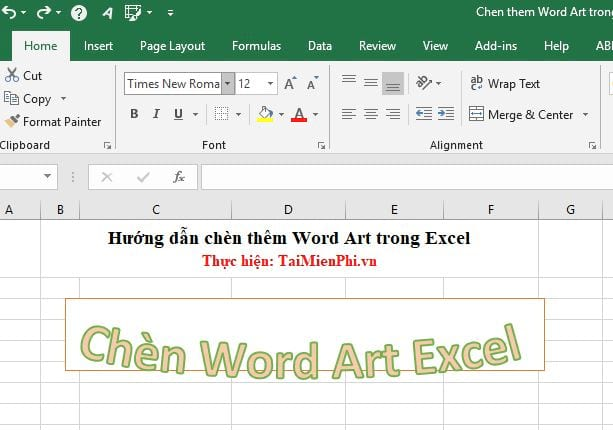 Guide to inserting word art in Excel 14