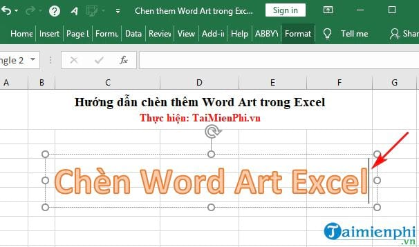 Guide to insert word art in Excel 3