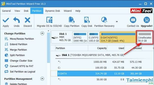 guide to share in minitool partition wizard 6