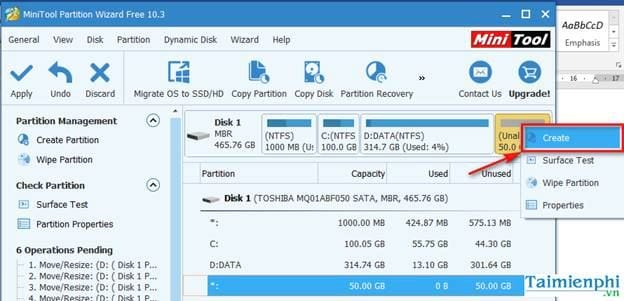 guide to share in the minitool partition wizard 7