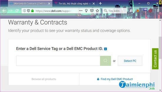 How to check the dell 3 laptop's warranty