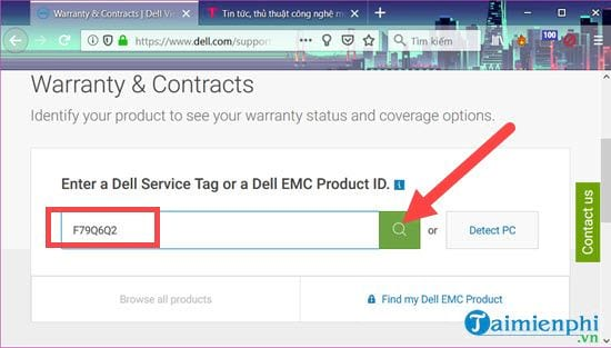 How to check the laptop dell dell 4 status