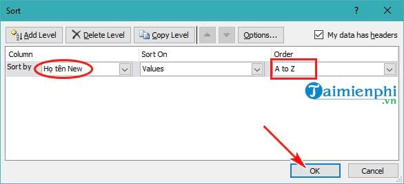 Guide to follow the standard letters in Excel 16