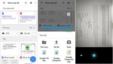 scan data on google drive