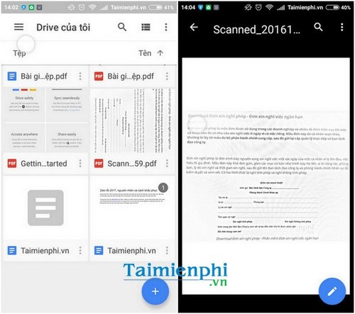scan the document on google drive with your phone