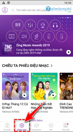 How to use Zing Mp3 on your mobile device