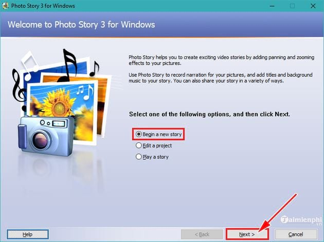 guide to using photo story 3 for windows 2