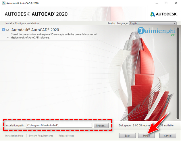 manual and autocad installation 2020 7
