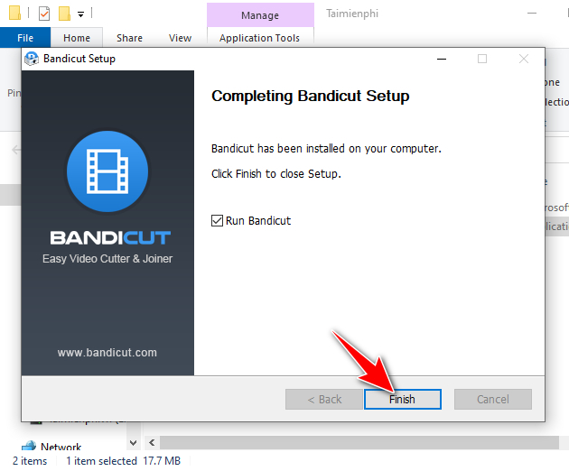 guide and install bandicut 9