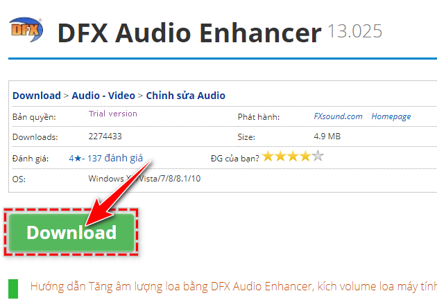 guide and install dfx audio enhancer 2