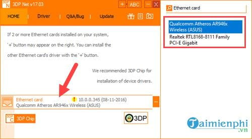 guide and install driver card for laptop computer with ethernet controller all main 6