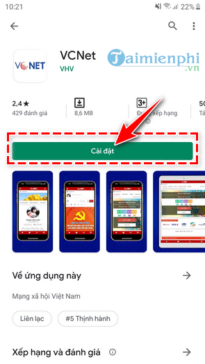 How to download and install vnet online on phone 3