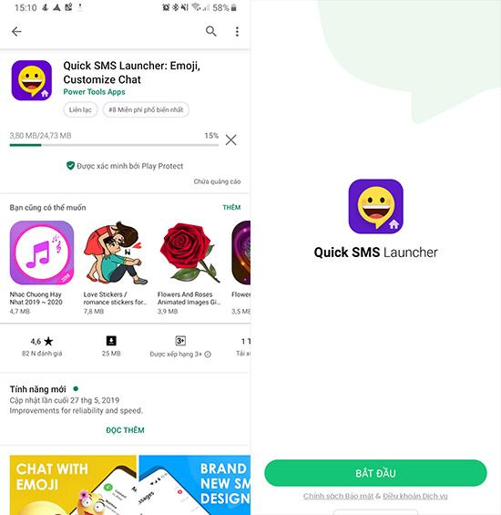 guide and use quick sms launcher 2