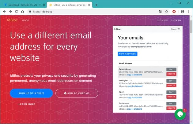 How to create an email on idbloc 2