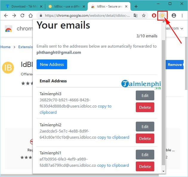 Create an email on idbloc 14