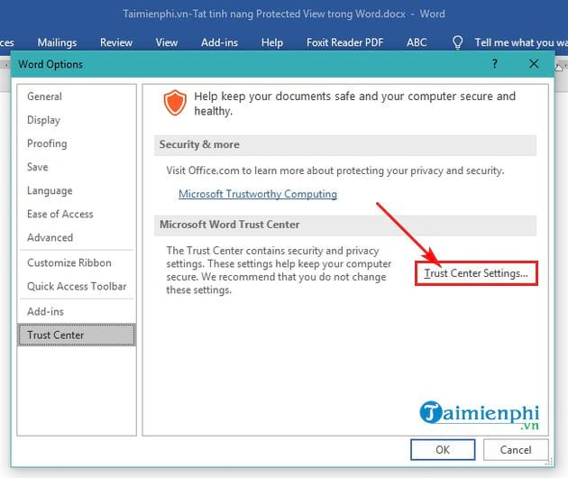 guide to protect protected view in word 4