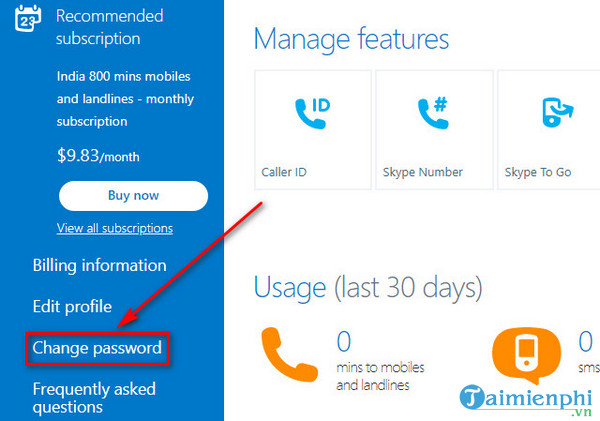 guide to change skype new password 5