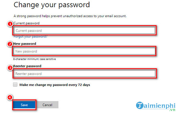 guide to change skype new password 6