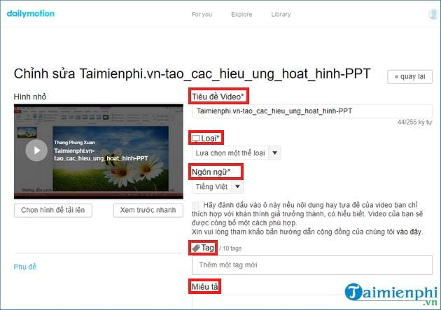 How to upload videos len dailymotion com 12