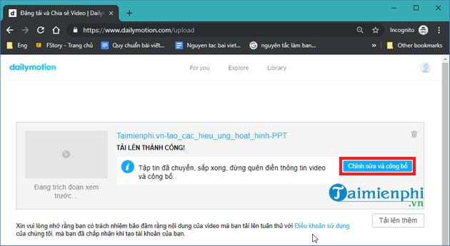 How to upload videos len dailymotion com 9