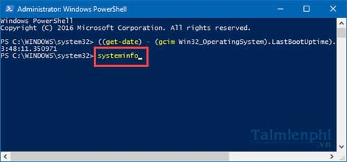 See the operating time of a computer on Windows 10 9