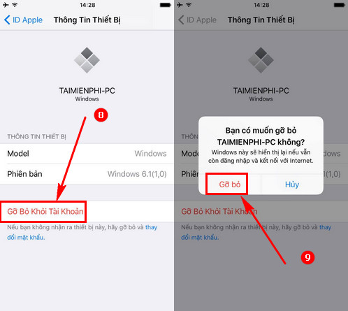 guide to remove devices connected to your Appleid account 4