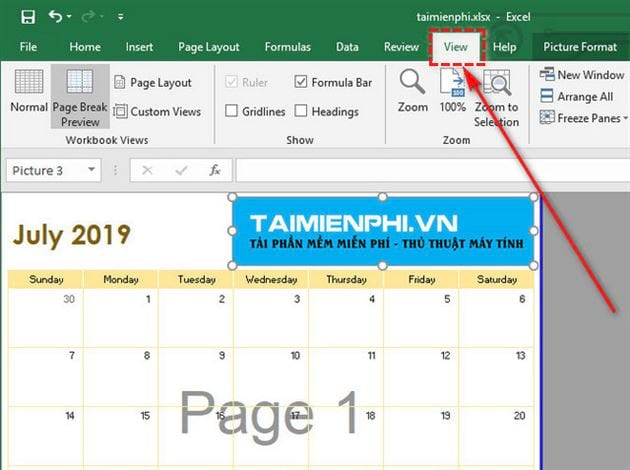 Guide to remove birds on page 1 page 2 in excel 2