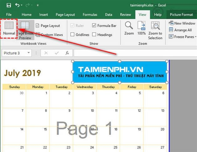 Guide to remove birds on page 1 page 2 in excel 3
