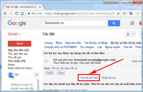 remove spam email from gmail 4