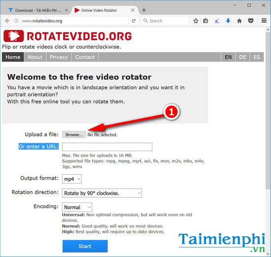 rotate video online
