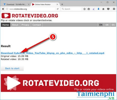 How to rotate a video online