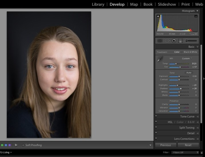 guide to the light in lightroom 5