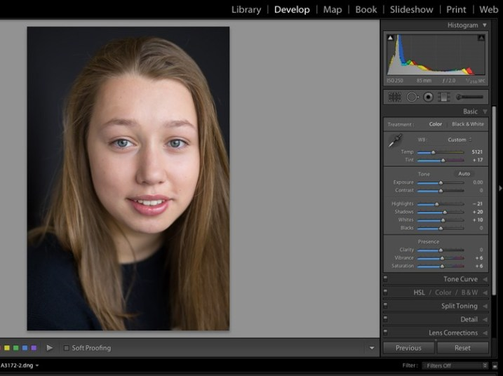 technical guidance in lightroom 7