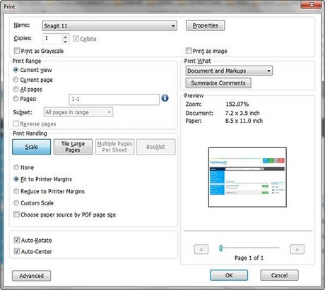 Guide to print the pdf file