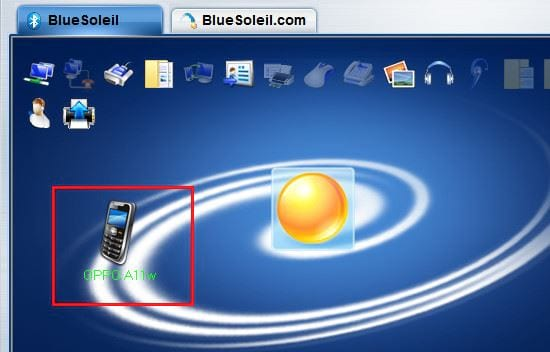 Bluetooth connection between phone and computer with bluesoleil 6