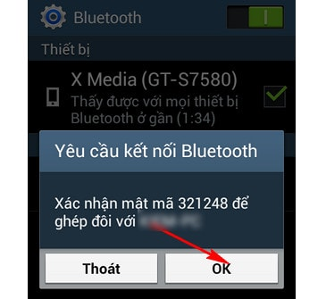 Bluetooth connection between phone and computer