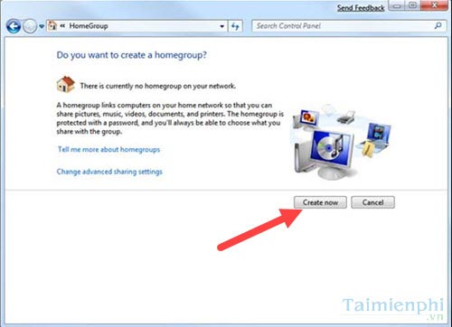 Connect to bring homegroup Windows 7