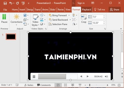 Another video cannot be inserted into the powerpoint