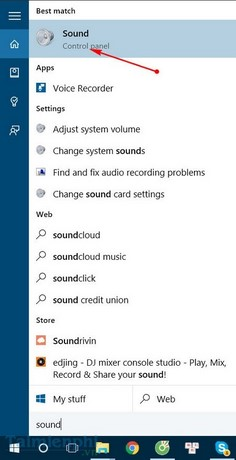 how to fix the sound bar in win 10