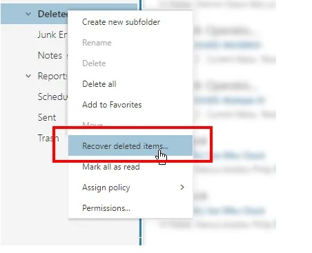 Delete emails deleted in office 365 3