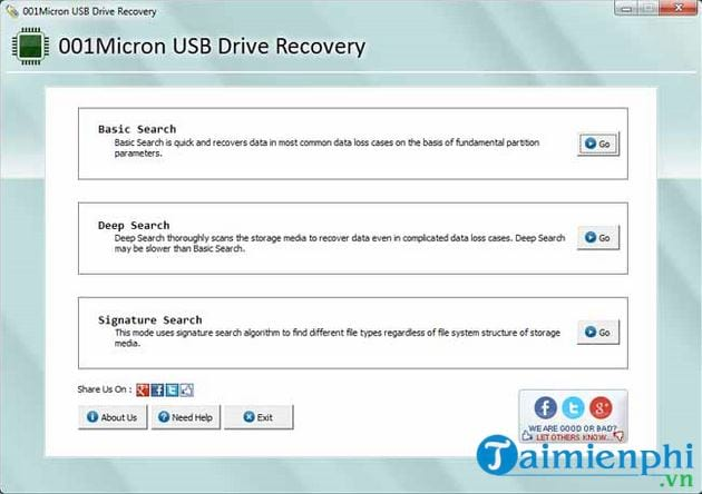 Recover data with 001micron usb drive recovery 2