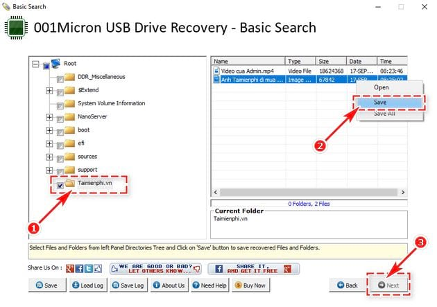 Recover data with 001micron usb drive recovery 4