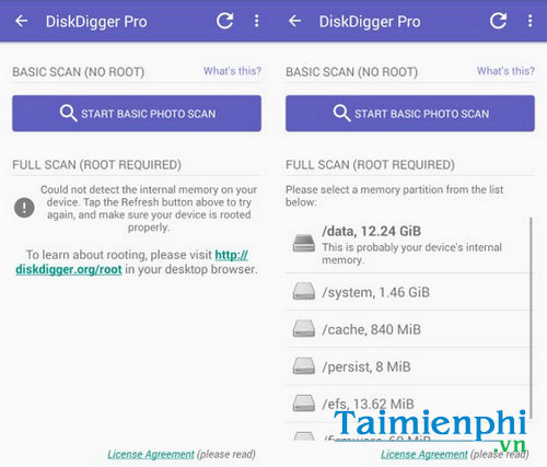 reinstall the device on your Android phone