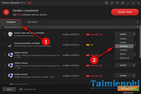 How to restart the driver update driver on the driver booster