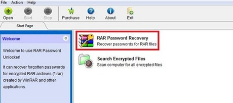 Unlock WinRar using RAR Password Unlocker