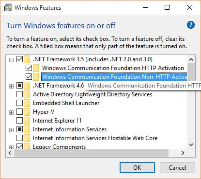 activate net framework 3.5