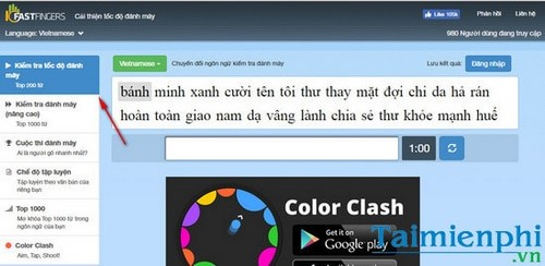 Collected by Vietnamese language 10fastfinger