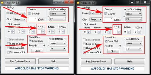 using lots of autoclick at the same time